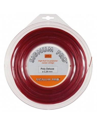 Signum Pro Poly Deluxe tennissnaar 200m rol (rood) SPPD Signum Pro Tennis